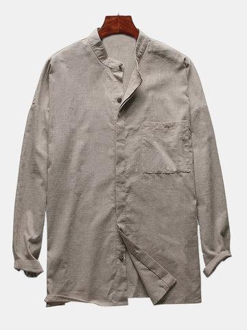 M-4XL Camicia Sciolta in Lino