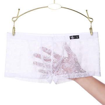 Lace Hollow Breathable Nylon Boxers