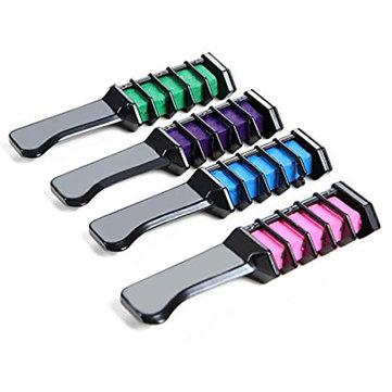 4 रंग मिनी बाल डाई कंघी ब्रश अस्थायी चाक पाउडर रंगाई उपकरण