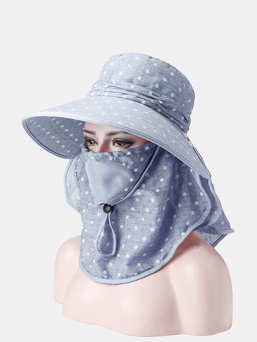 Print Multifunction Cover Face Ponytail Cap
