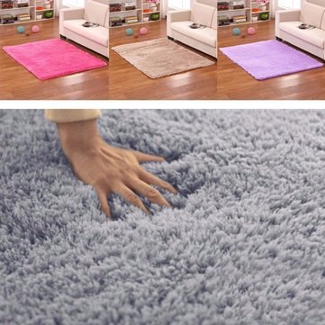 50x80cm Bedroom Living Room Soft Rug Shaggy Anti Slip Carpet Absorbent Mat