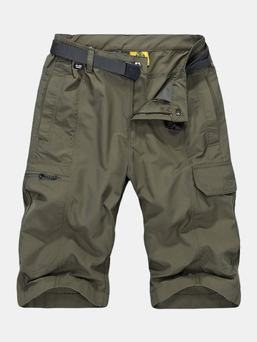 Quick Dry Breathable Outdoor Shorts, Khaki yellow army green blue dark gray