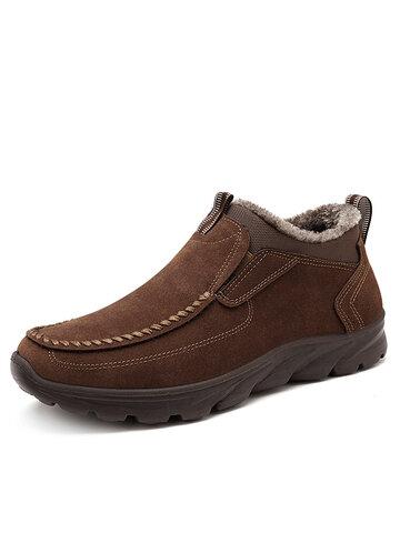 Menico Large Size Men Warm Plush Lining Ankle Boots