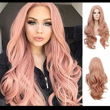 Pink Middle Score Big Wave Wig, Picture color delivery network