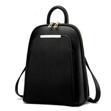 Women PU Leather Vintage Backpack Fashion Travel Shell Shoulder Bags