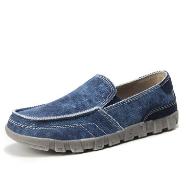 Men Canvas Comfy Slip On Loafers
