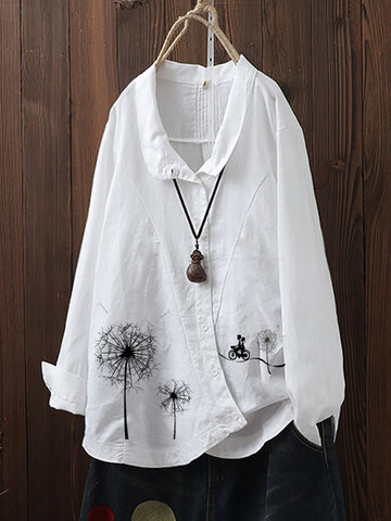 Vintage Flowers Button Shirt