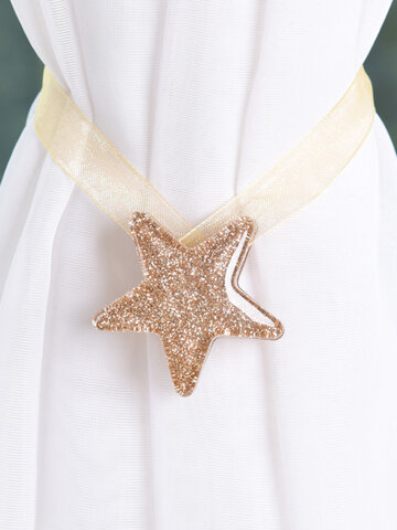 Shining Star Shaped Magnet Ribbon Curtain Buckle