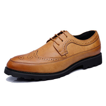 Hombres de gran tamaño Brogue Lace Up Oxfords