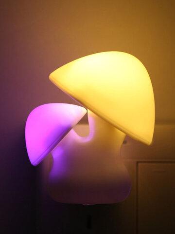 3D LED Mushroon Pattern Night Light Plug Charging Automatic Colorful Home Corridor Child Room Decor 3D Light