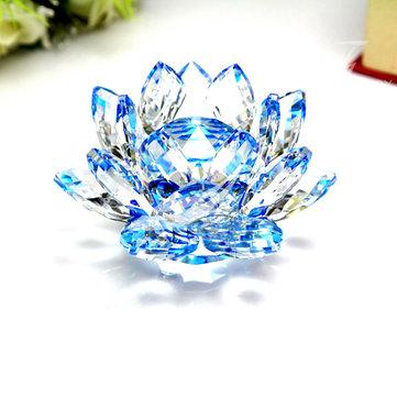 Ornamento de papelão de cristal de cristal de Lotus Crystal