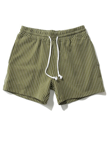 Striped Gym Loose Breathable Mini Home Shorts