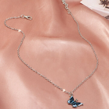 Gradient Butterfly Necklace