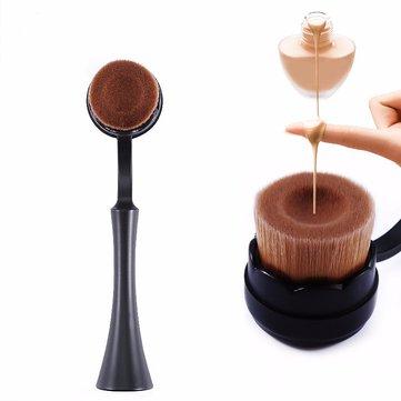 Soft Groove Standing Up Black Facial Foundation Brush With Lid BB Makeup Brushes