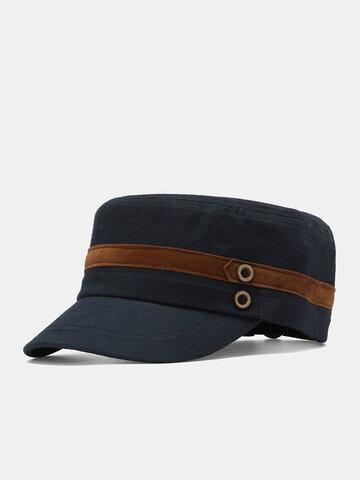 أزرار الرجال القماش الشريط الديكور قبعة مسطحة