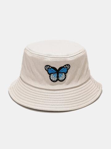 Women & Men Colorful Butterfly Pattern Sunshade Bucket Hat