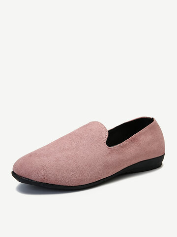 Suede Soft Slip On Flat Loafers