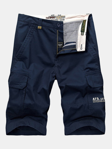 Pantaloncini da uomo casual in cotone tascabile multi tasca Plus