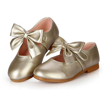 Girls Bowknot Casual Shoes Lovely Princess Flat Loafers
