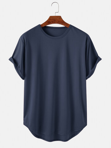 Solid Color Casual T-Shirts