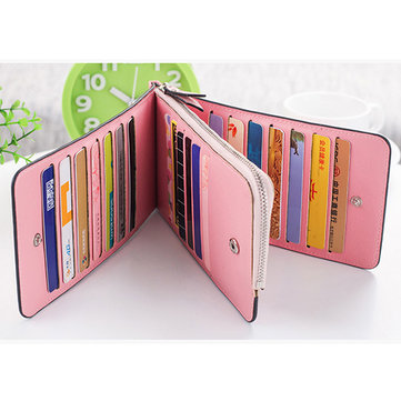 Microfiber Leather Multi-Card Slots Wallet Card Holders