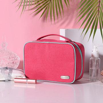 Women Nylon Waterproof Cosmetic Bag Travel Solid Wash Bag