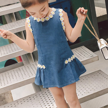 Daisy Girls Denim Dress Para 2Y-9Y