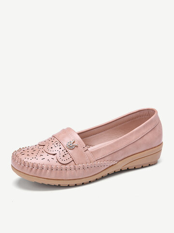 Hollow Comfy Non Slip Casual Flats