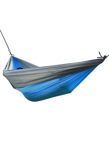 屋外のキャンプハンモックパラシュートの布260 * 140シングルキャンプハンモックハンモック