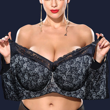 Reggiseno push-up senza ferretto con ricami