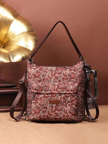 Brenice Flower Multifunction Shoulder Bags Outdoor Backpack