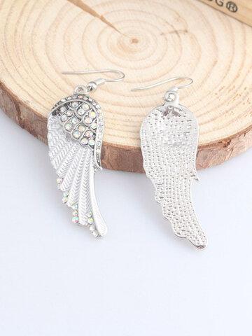 Rhinestone Angel Wings Earrings