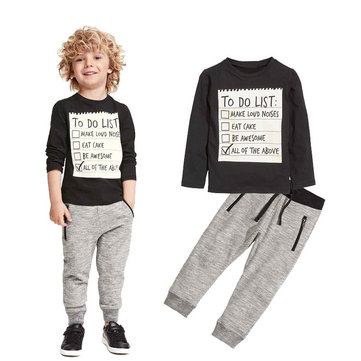 Toddler Boys Clothing Sets For 3-11Y