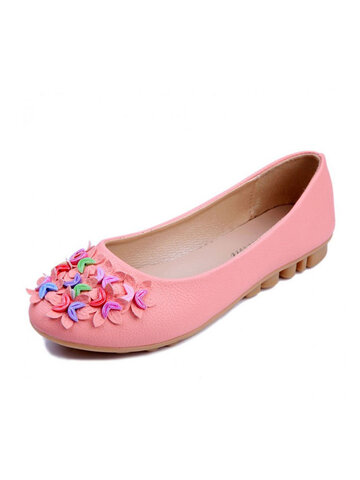 Colorful Bead Crescent Moon Slip On Flat Mary Jane Shoes