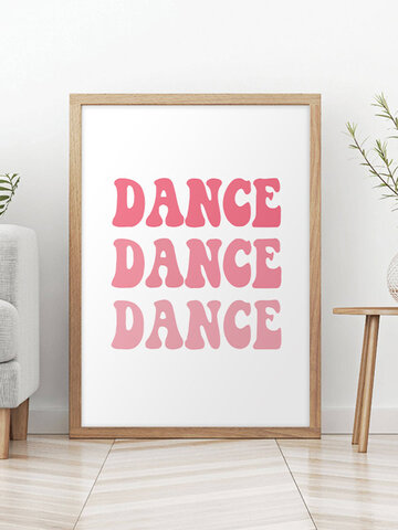 1PC Unframed Creative Pink English Letters Inspiration Quote Slogan Canvas Painting Wall Decor For Bedroom Living Room Office
