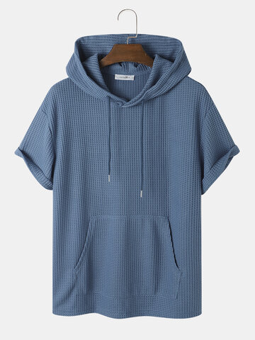 Waffle Knitted Hooded T-Shirt