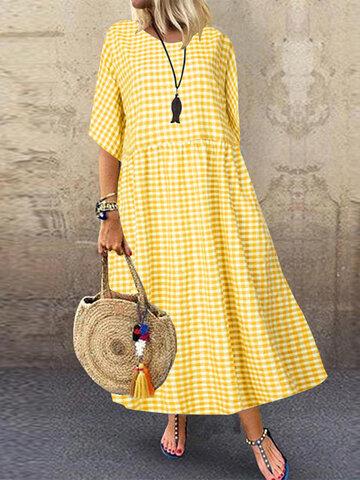 Casual Plaid Dress
