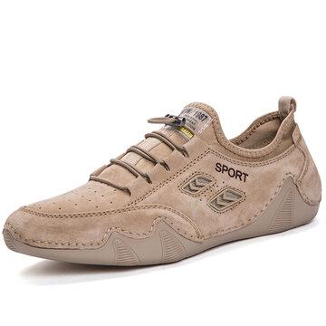 حذاء رياضي كاجوال للرجال من جلد الغزال غير قابل للانزلاق