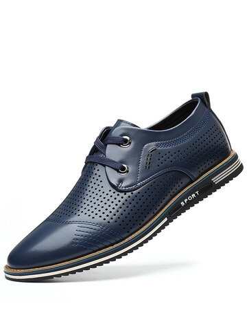 Men Hollow Out Breathable Business Casual Shoes