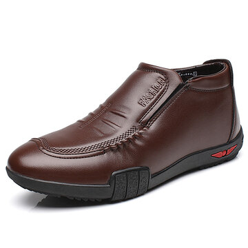 Men Microfiber Leather Warm Boots