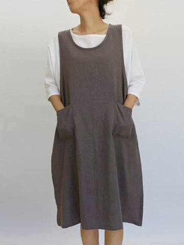 Vintage Sleeveless Side Knot Dress