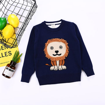 Lion Printed Kids Sweaters For 4Y-13Y