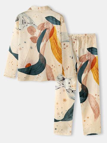 Абстрактные пижамы больших размеров Шаблон