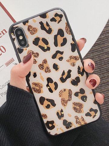 Gold Foil Leopard Fashion TPU iPhone Phone Case
