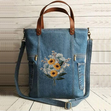 Women Large Capacity Flower Tote