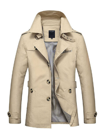 Business Washed Cotton Casual Coats