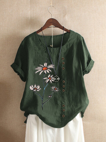 Floral Printed Overhead T-shirt