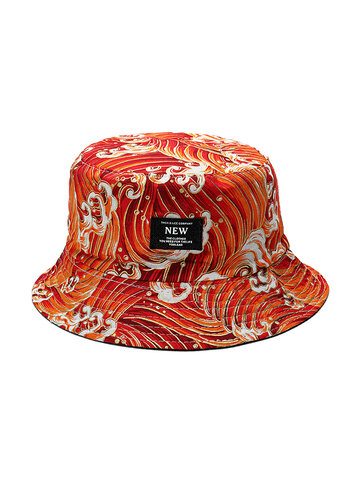 Summer Cotton Wave Pattern Bucket Hat