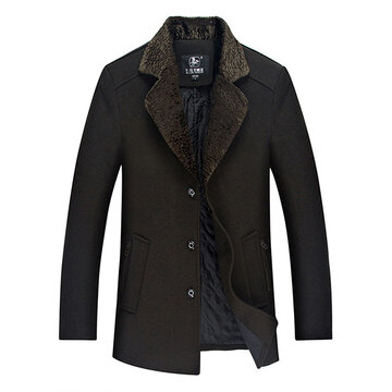 Mid Long Thick Wool Overcoat
