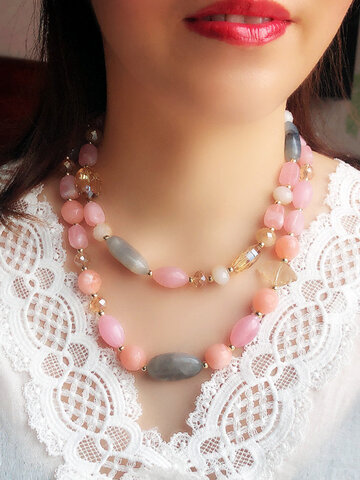 Candy Color Beaded Necklace